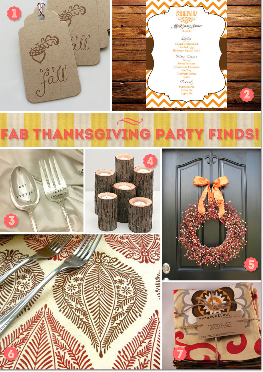 Table decorations and invitations ideas for Thanksgiving party