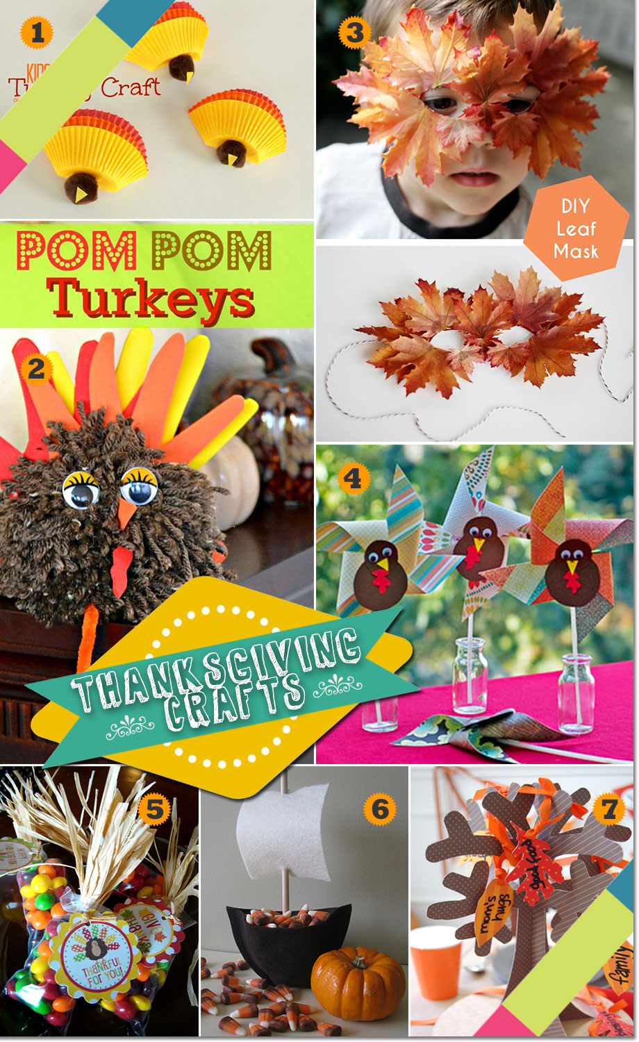 Thanksgiving party crafts and decorations for kids