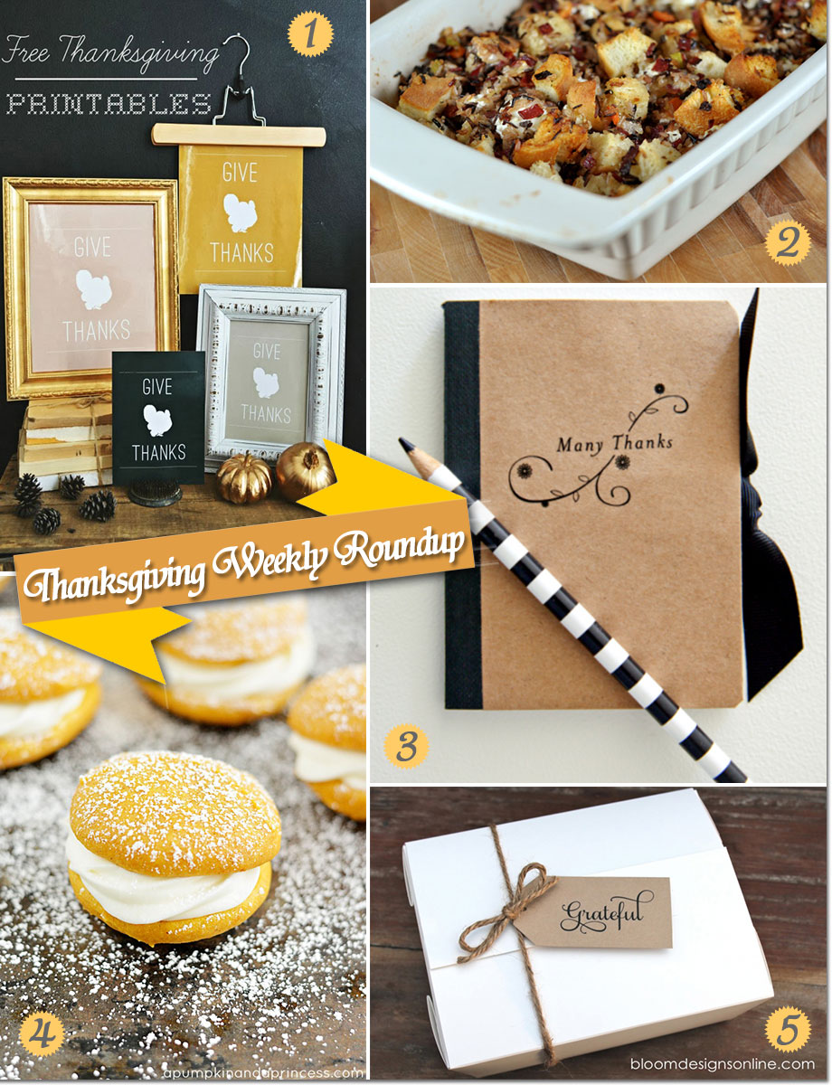 Thanksgiving party ideas from desserts to favors and decorations to recipes.