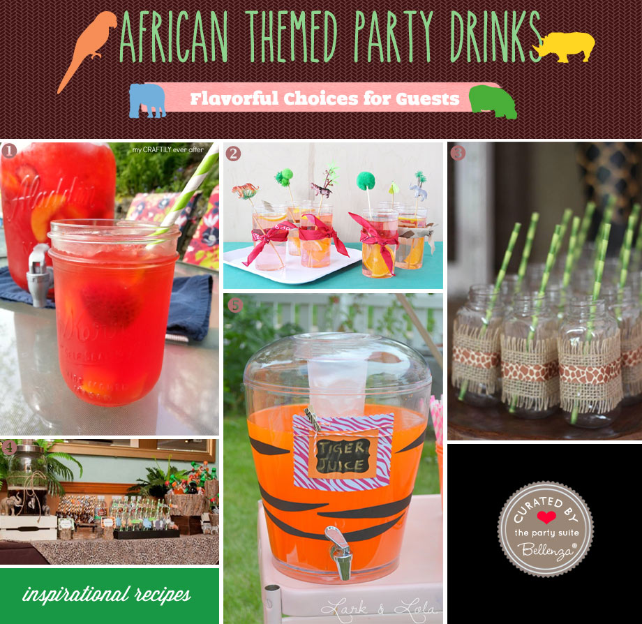 African birthday party drinks