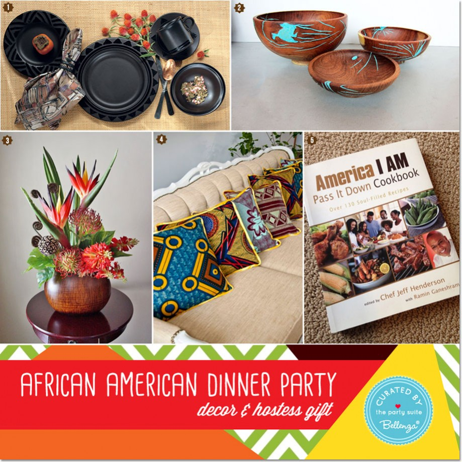 African American Heritage Dinner Party Decor And Menu Ideas