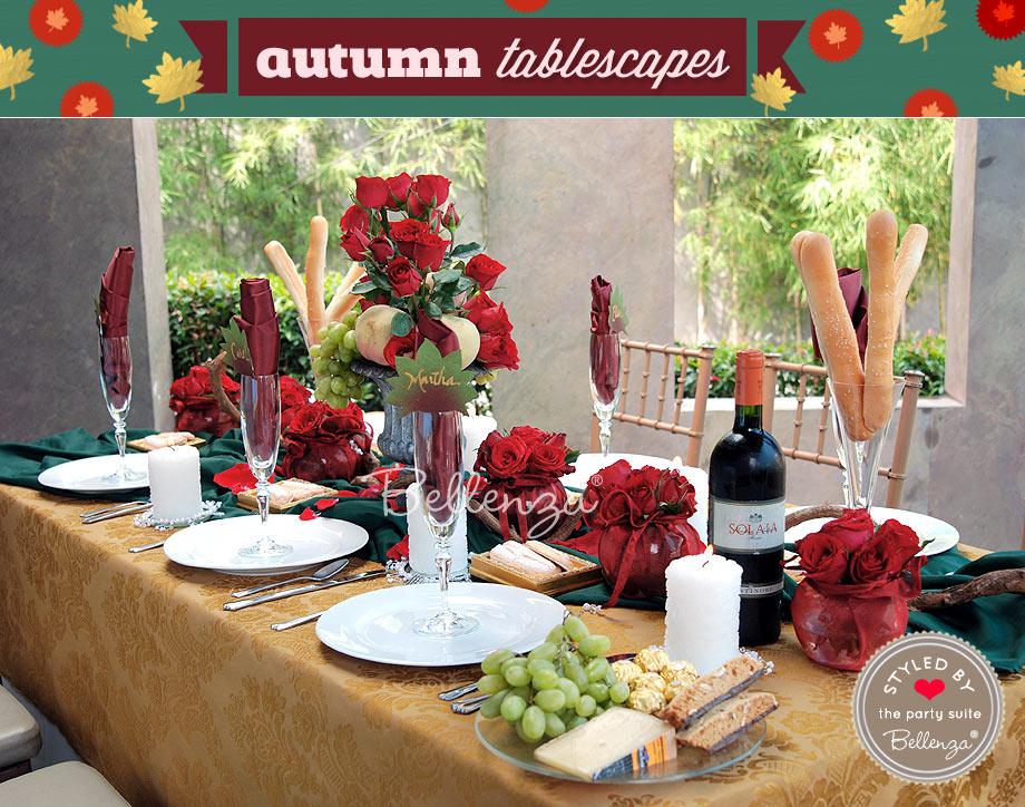 Italian al Fresco Style Tablescape for Fall