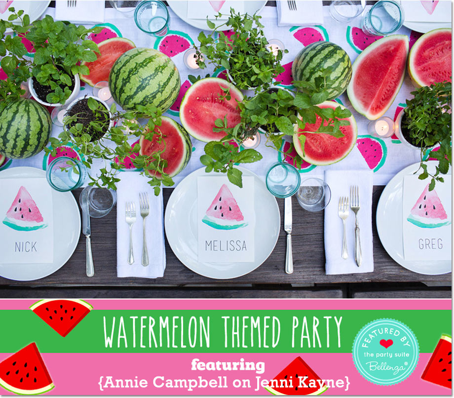 Watermelon Party by Annie Campbell on Jenni Kayne