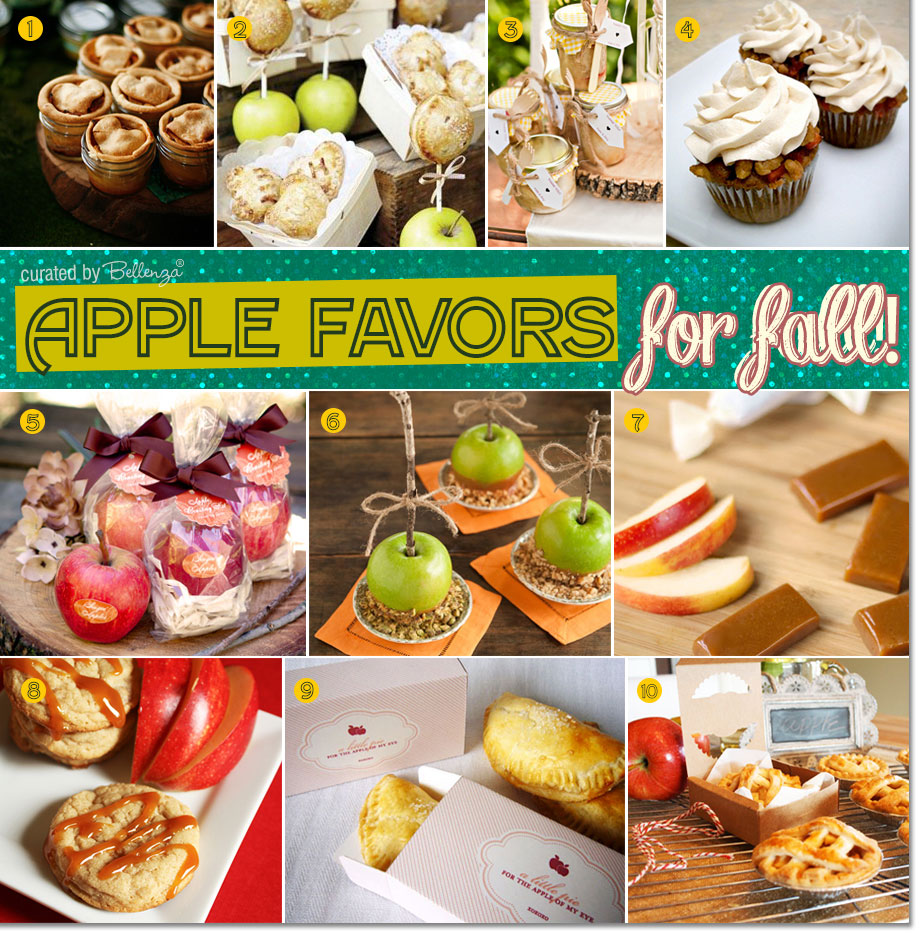 Apples inspire favor ideas from cupcakes to pies to cookies!