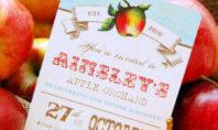 Apple invitation by Bee and Daisy on etsy