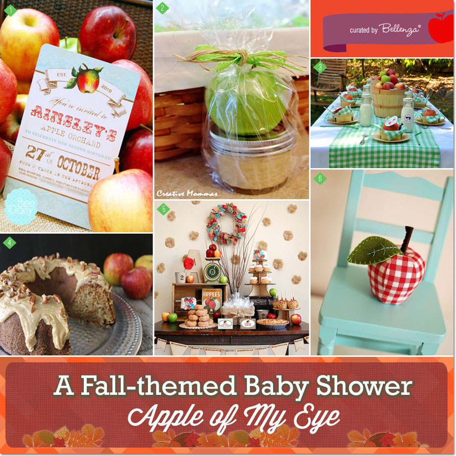 Apple of My Eye Themed Baby Shower for Fall #fallbabyshowers #appletheme