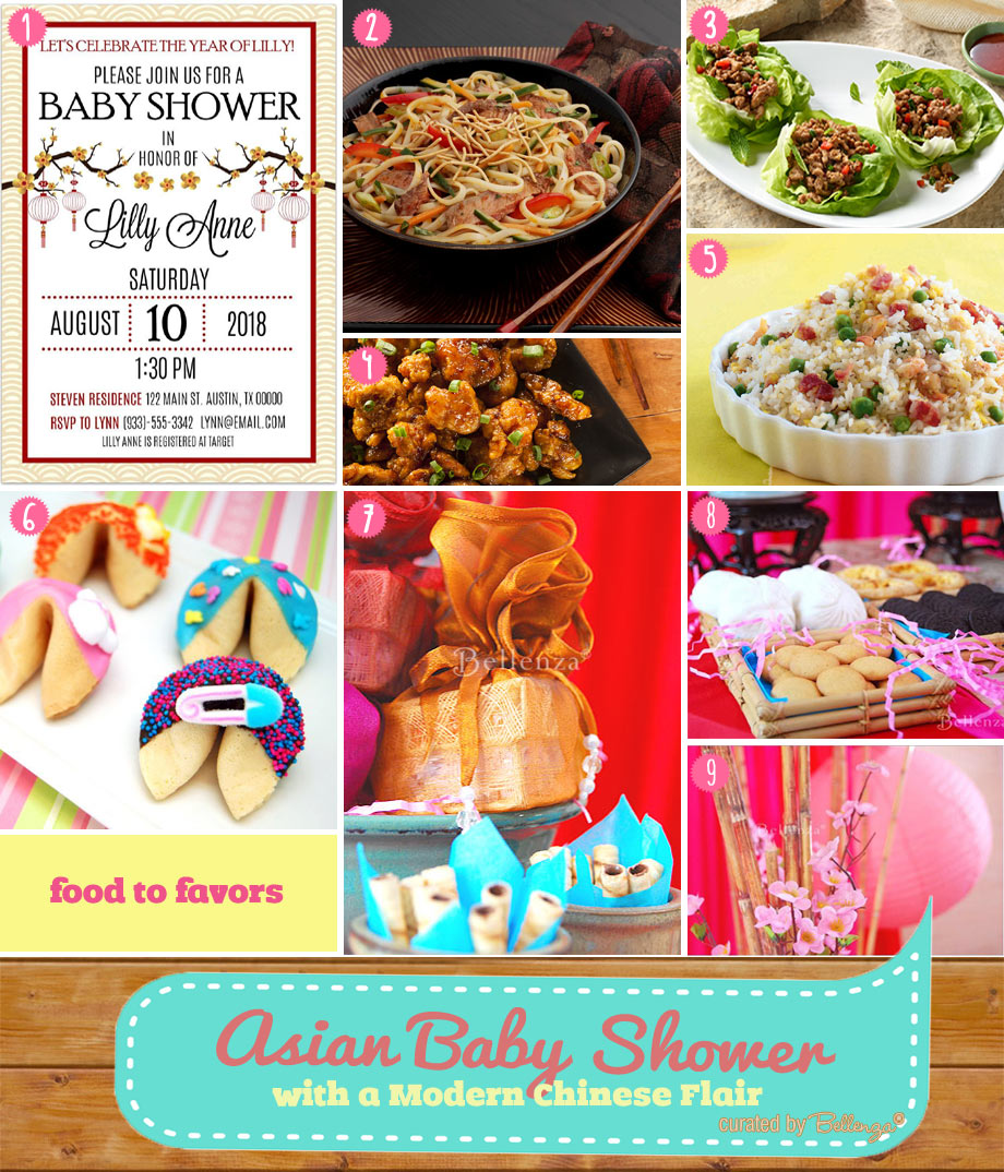 Asian Baby Shower with a Modern Chinese Flair from Food to Favors