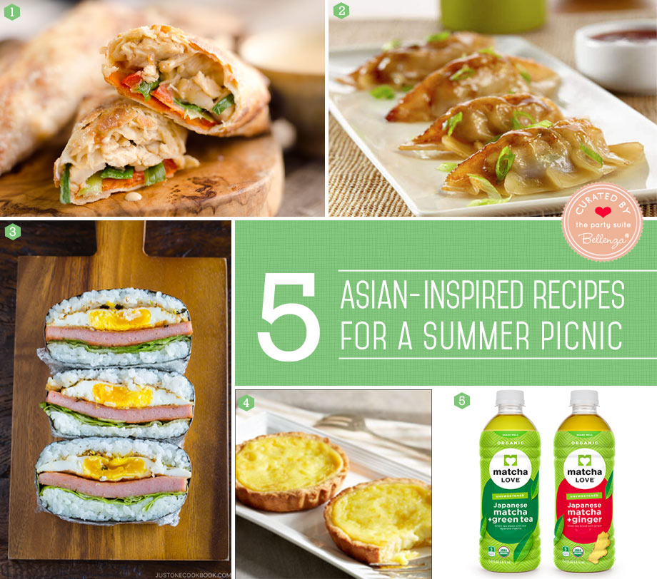 Asian summer picnic with easy recipes