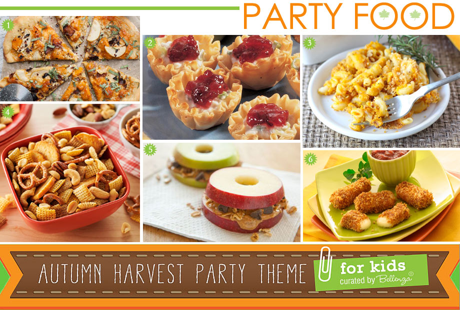 Autumn Harvest Party Food for Kids
