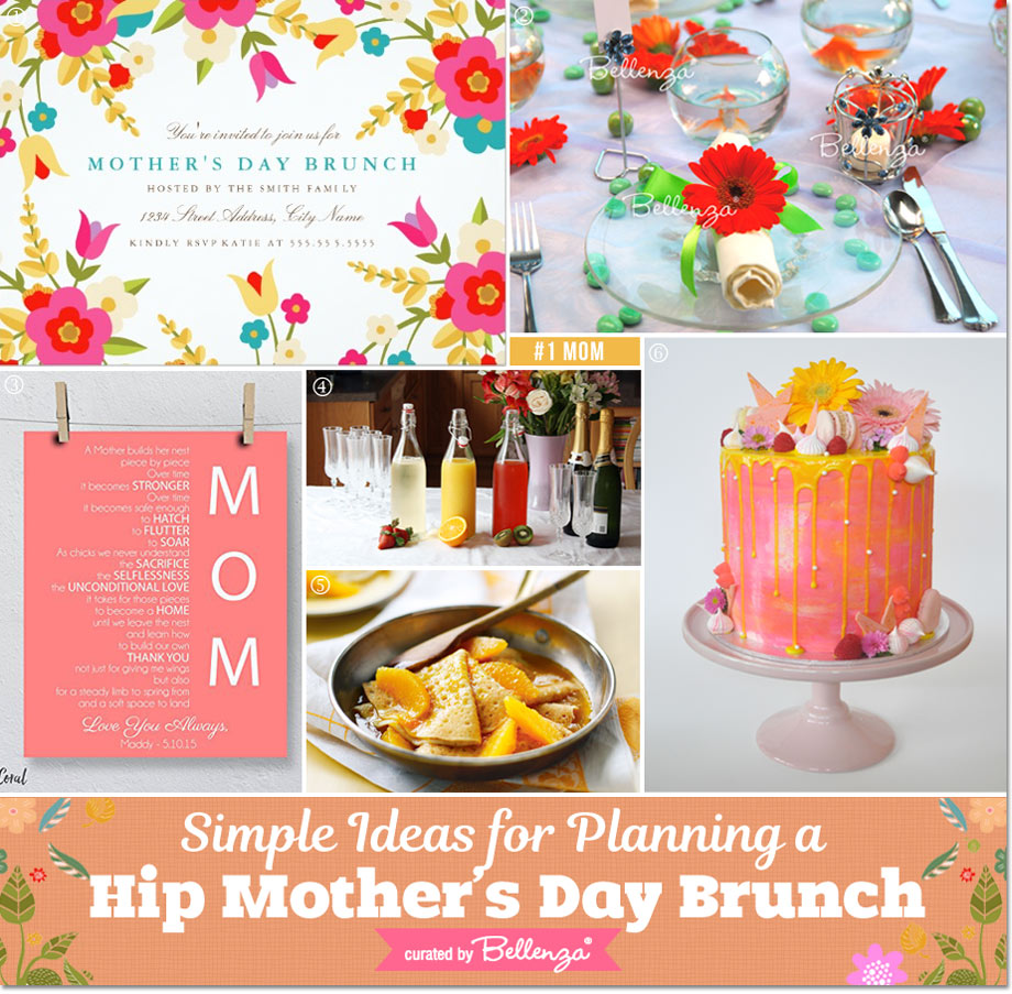 Simple Details for Planning a Hip Mother's Day Brunch