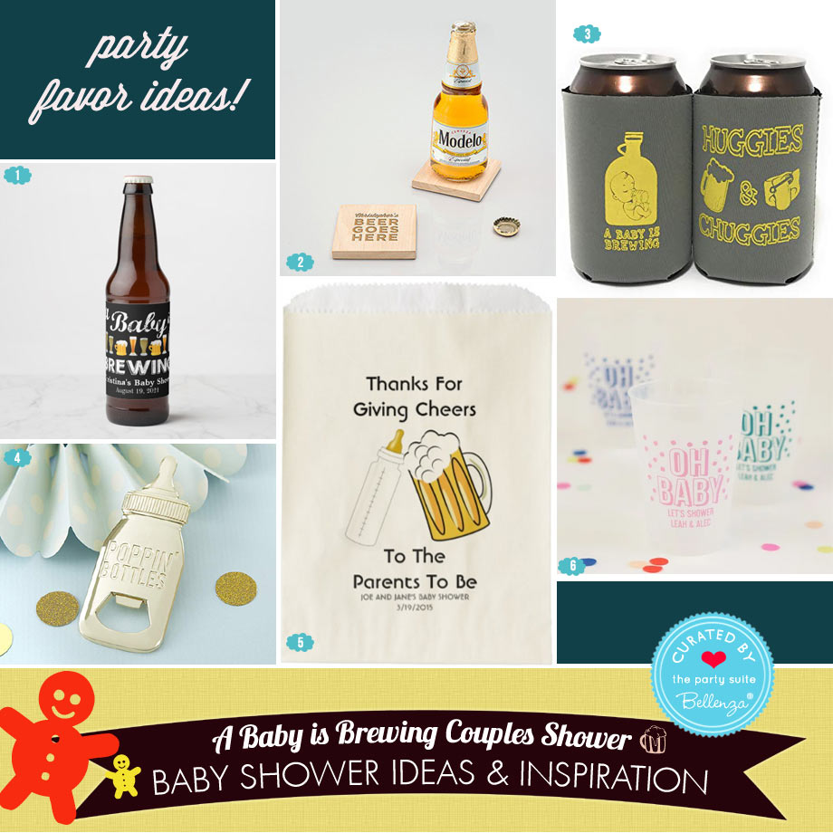 Beer-themed Baby Shower Favors from Wooden Coasters to Bottle Openers