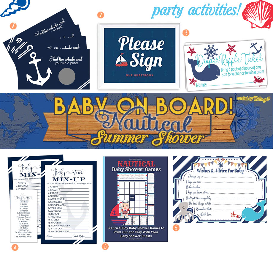 Nautical baby shower activities