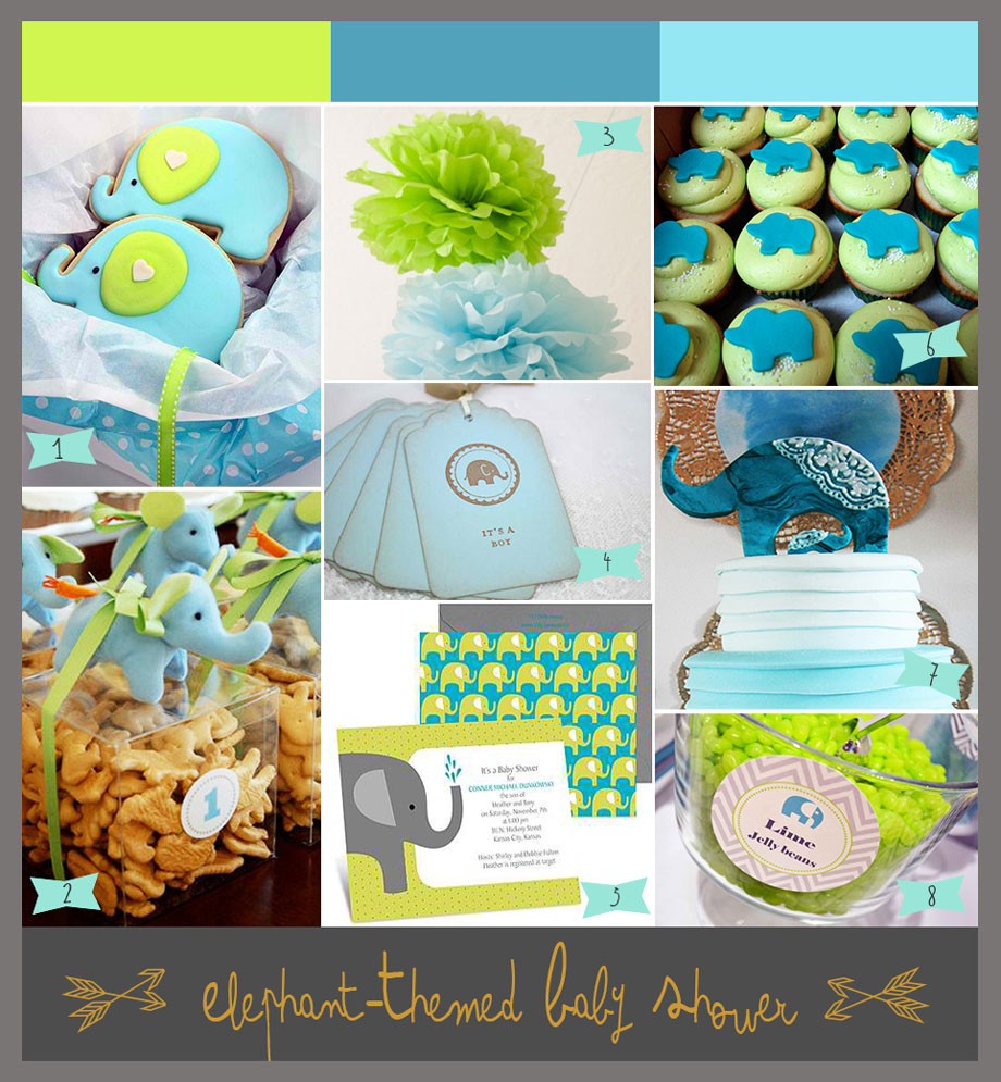 A Lime Green And Aqua Baby Shower With