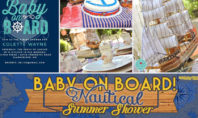 Baby on Board for a Nautical Baby Shower
