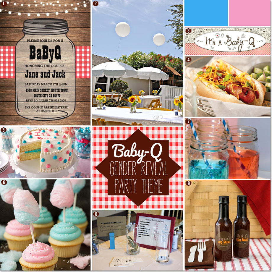 How to Plan a Baby-Q BBQ Gender Reveal Baby Shower Party // Curated by Bellenza.
