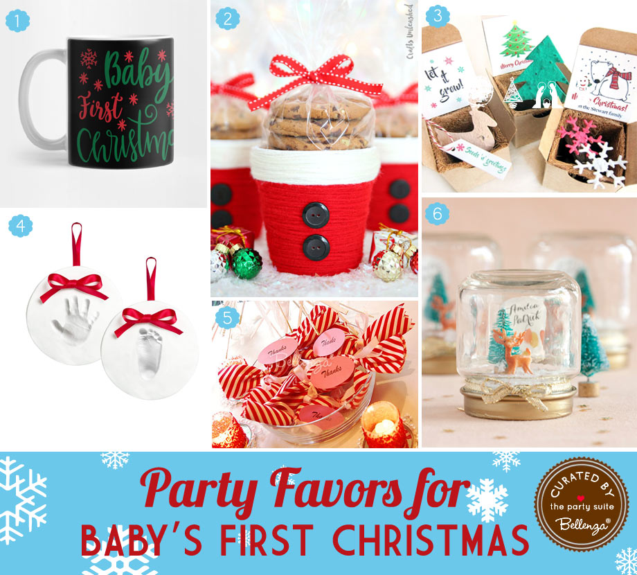 Baby's First Christmas Favor Ideas Both Festive and Cute