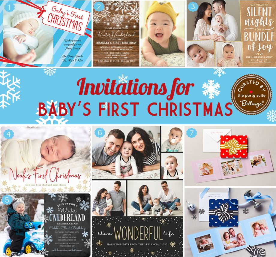 Invitations for Baby's First Christmas Birthday