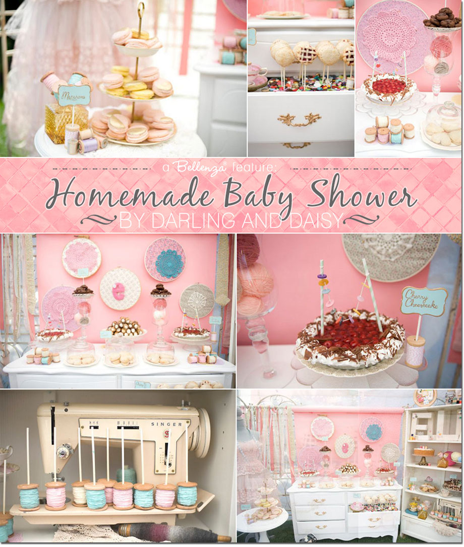 Sewing themed baby shower by Darling and Daisy