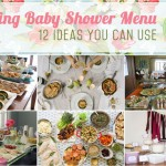 Spring menu for baby showers