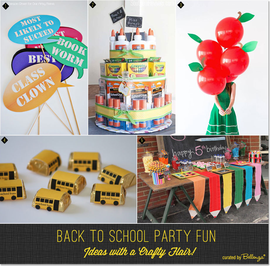 Fun and crafty back to school ideas from photo prop printables to apple-shaped balloons!