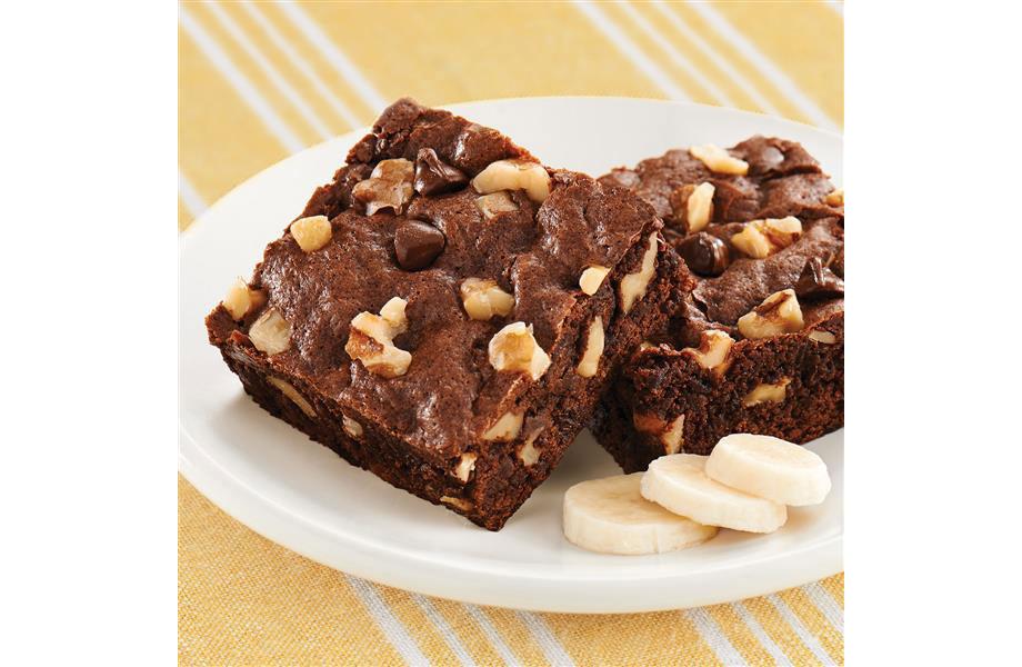 Gluten-Free Banana Walnut Brownies