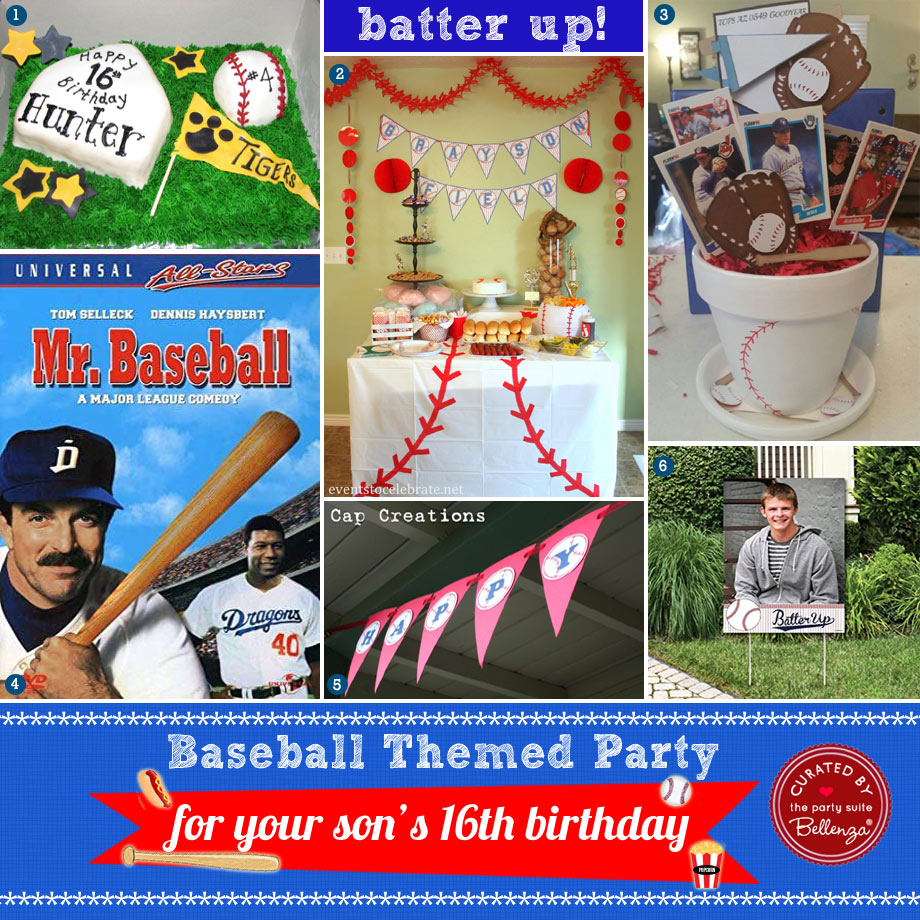 Baseball-themed 16th Birthday Party Ideas at Home