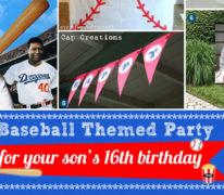 Baseball-themed 16th Birthday Party at Home