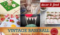 Baseball themed baby shower inspiration