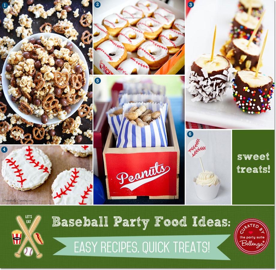 Baseball Snacks And Sweet Treats