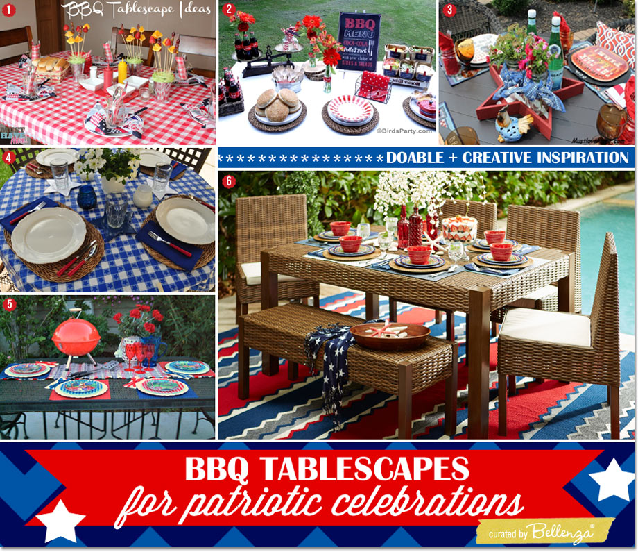 BBQ Tablescape Inspiration + Essentials with a Patriotic Vibe