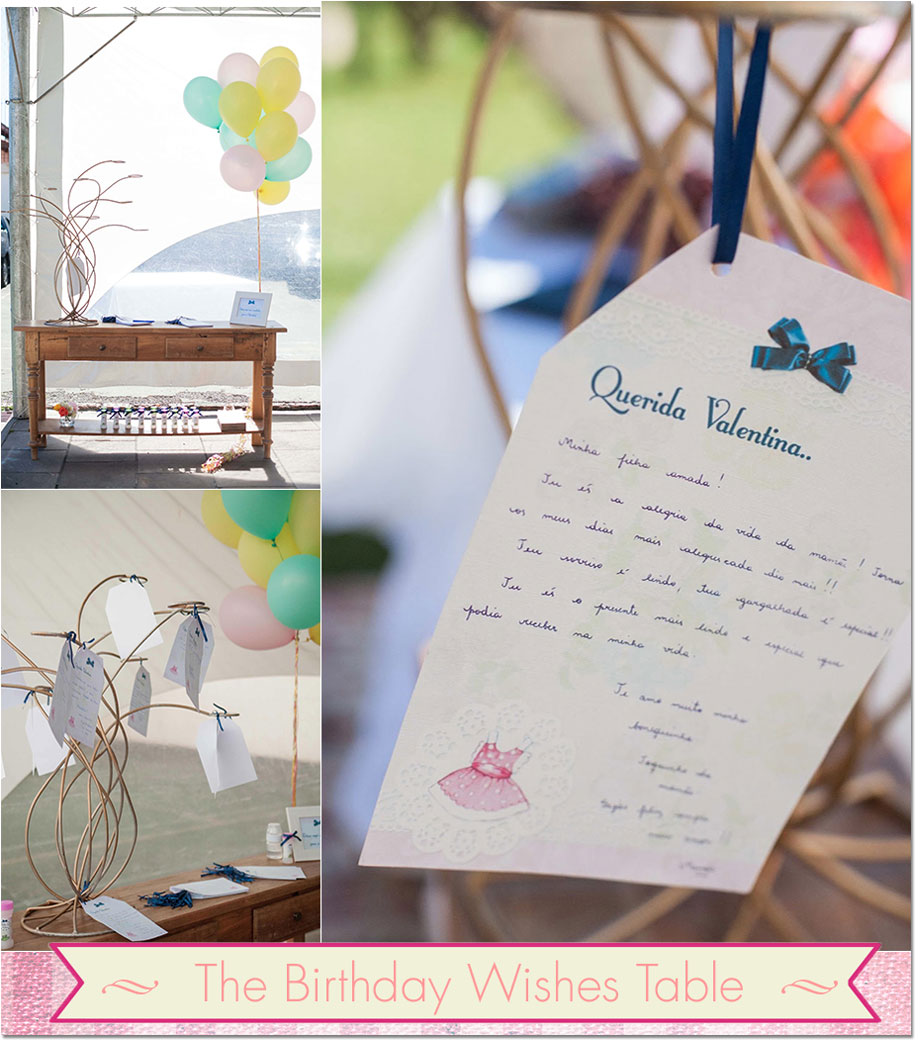 Birthday wish table from Festa Com Gosto