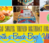 Retro Surfer-themed Birthday for Dad with a Beach Boys' Vibe