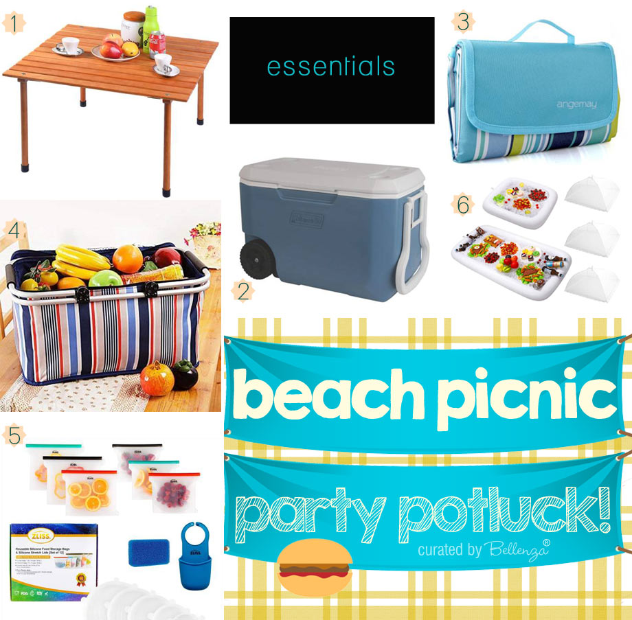 Beach potluck essentials