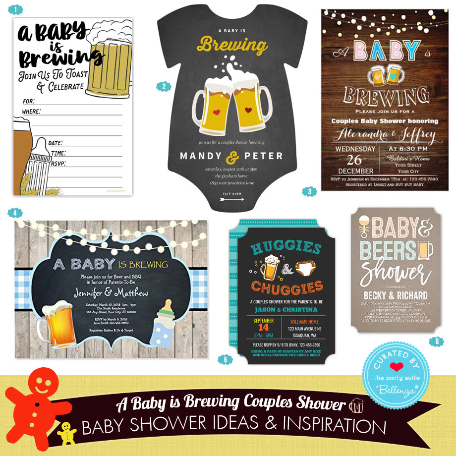 Beer-themed Baby Shower Invitations