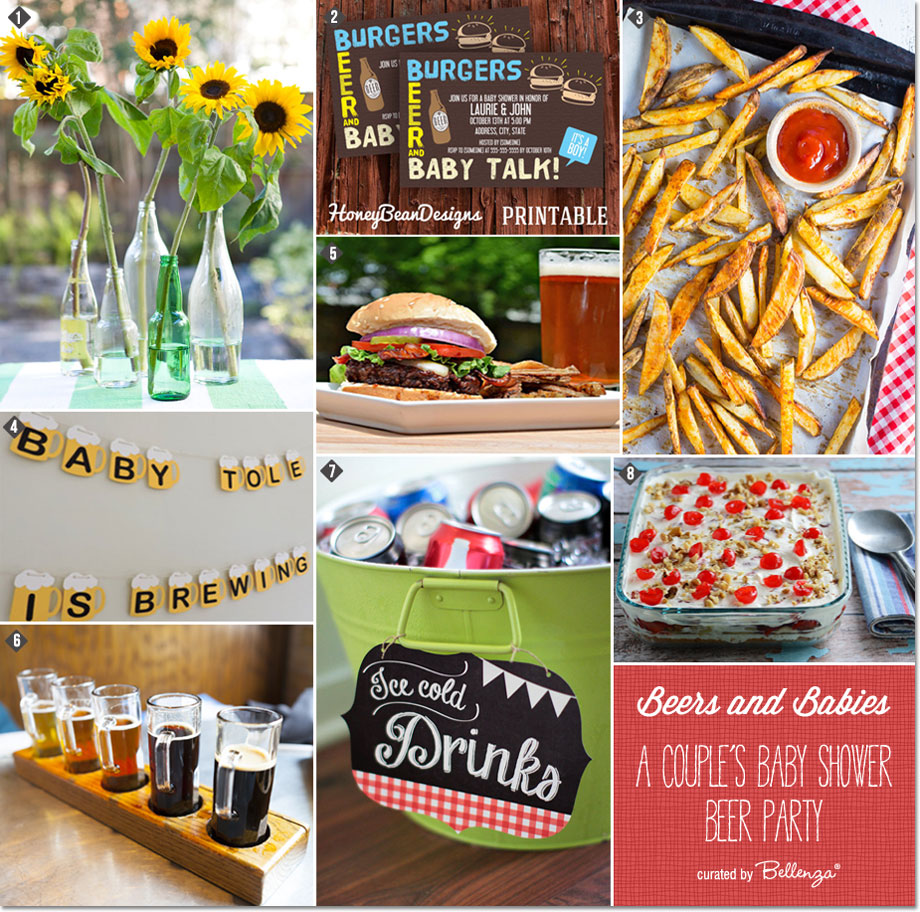 Burgers and Beers Couple's Baby Shower Party Ideas! #babyshowerideas #babyshowers