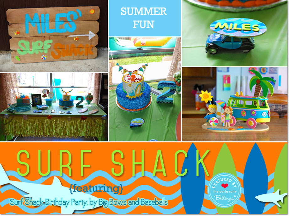 Surf Shack Birthday Party by Big Bows and Baseballs