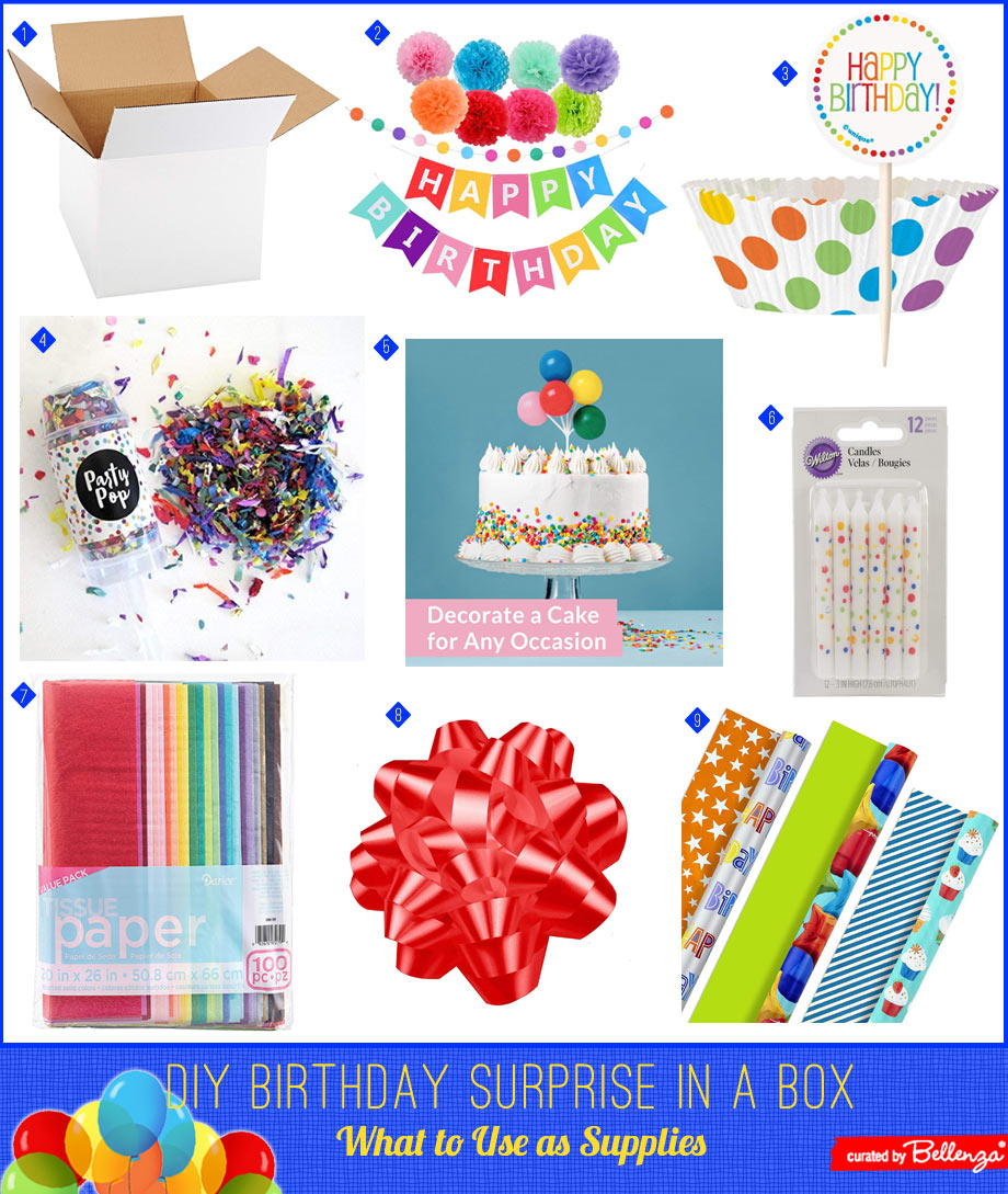 Surprise gift box supplies