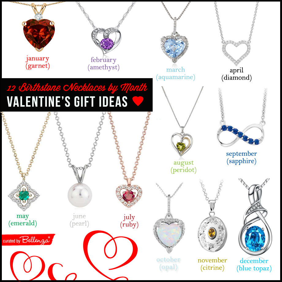12 Necklaces by Birthstone. a Month-to-Month Gemstone List