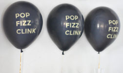 Black balloons for New Year's Party