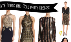Stylish Black and Gold Party Dresses to Ring in the New Year!