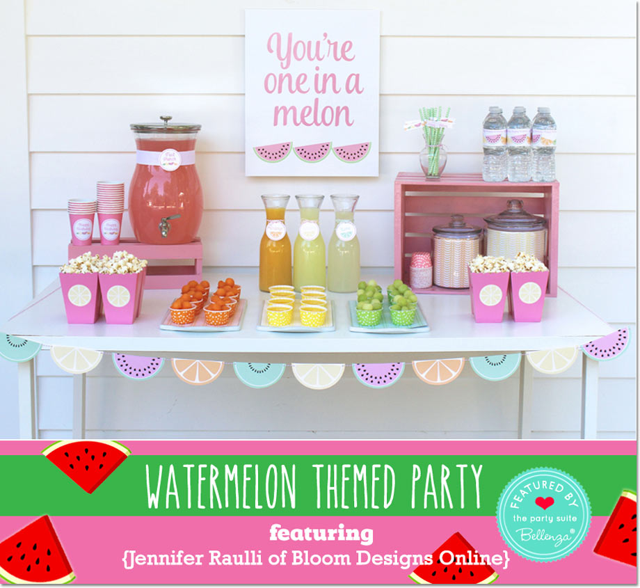 Watermelon Themed 12th Birthday Party, by Jennifer Raulli