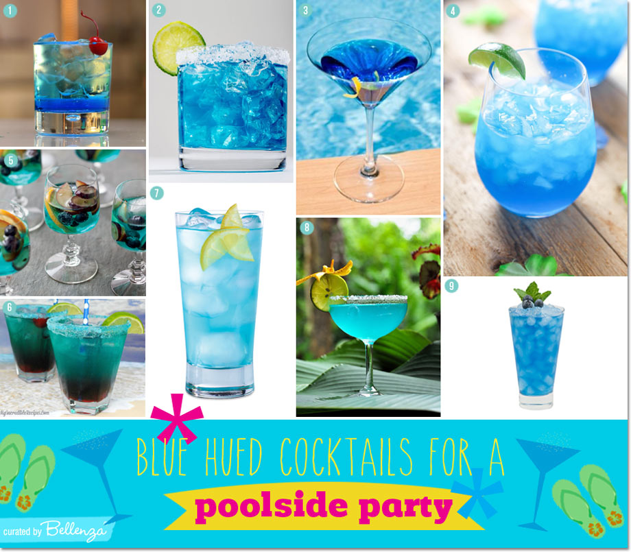Blue Cocktails Appetizers For A Poolside Cocktail Party You Can