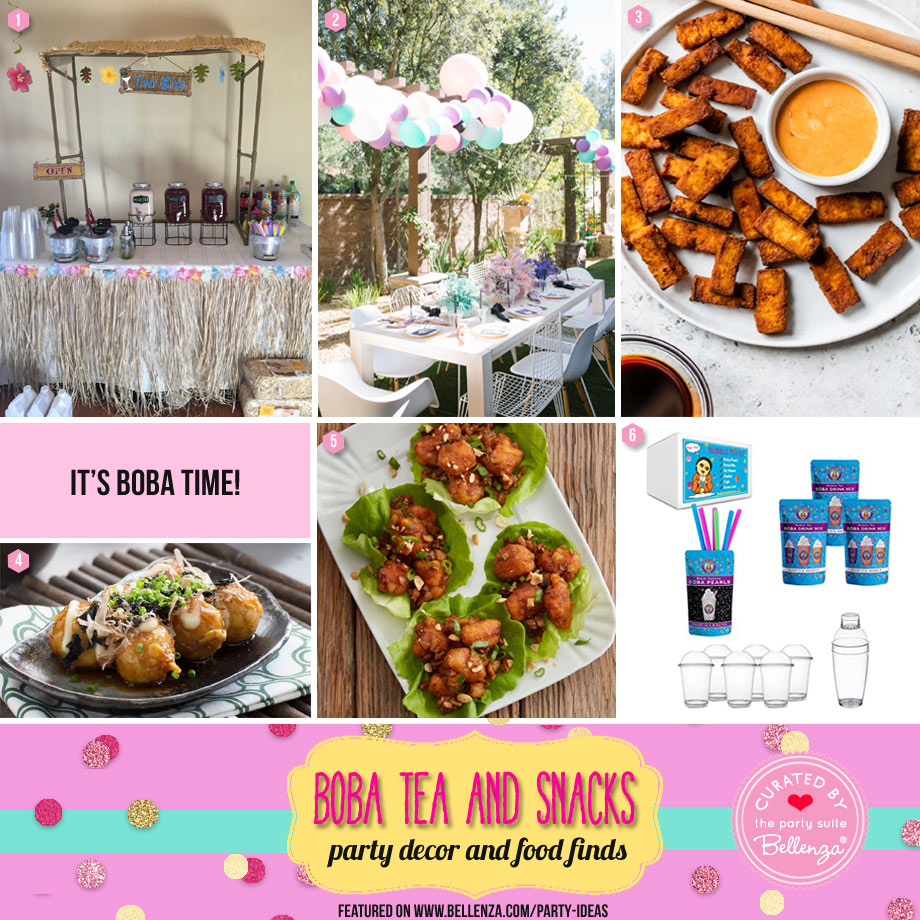 Boba Tea and Snacks Party for Summer