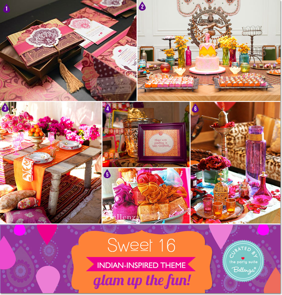 Indian Bollywood Glam Sweet 16 Theme