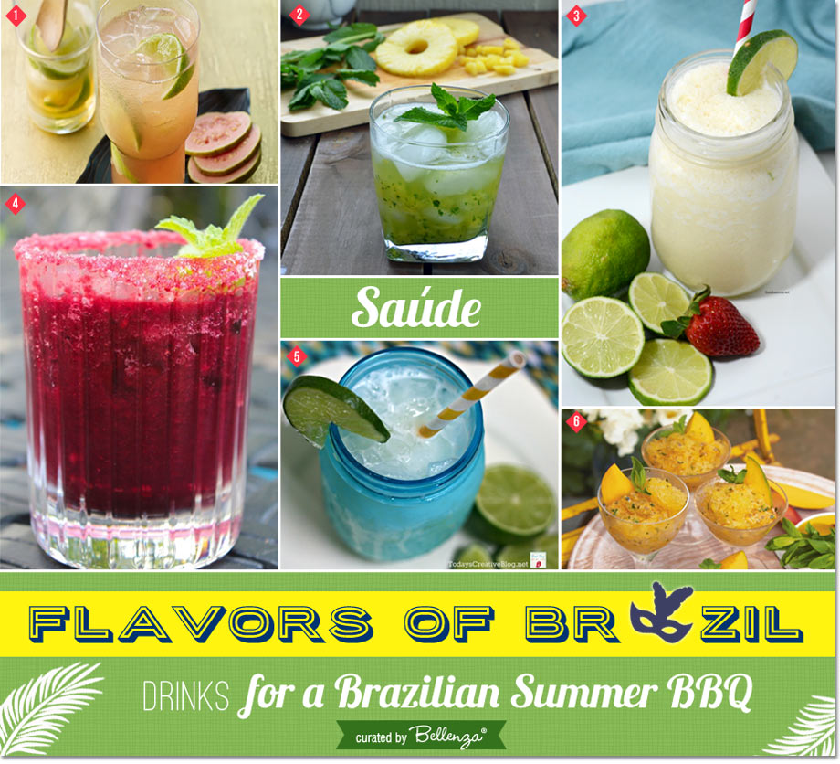 Brazilian party drinks and cocktails // a Brazilian Olympic BBQ Party