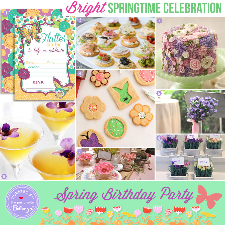 Bright spring birthday for adults