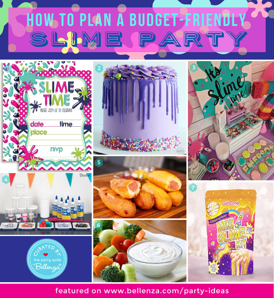 Slime-themed Party Essentials on a Low Budget