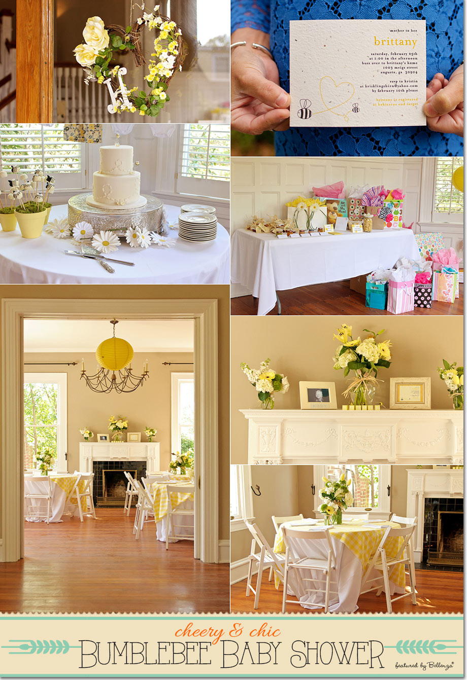 Bumble Bee Yellow Baby Shower Decor