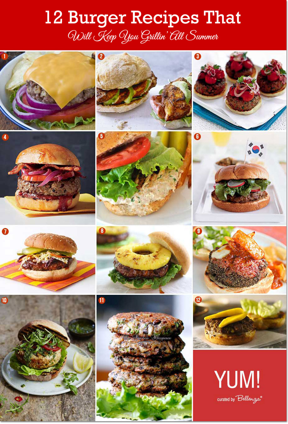 Burger Recipes for Summer Grilling! #summerburgers #burgerrecipes