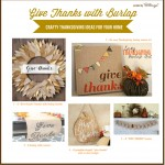 Crafty Decorations with Burlap for Thanksgiving